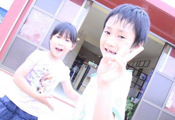 家族で沖縄ガラス星砂体験