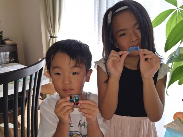 小学生が初めて作る自由研究は、ガラスアクセサリー 沖縄 恩納村 ガラス体験
