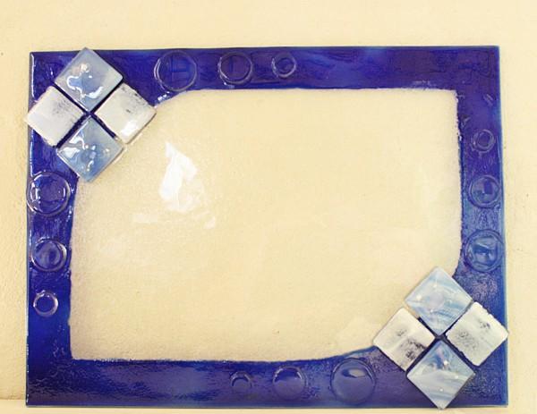 雨の日にフォトフレームを作る星砂体験 沖縄 恩納村 ガラス体験