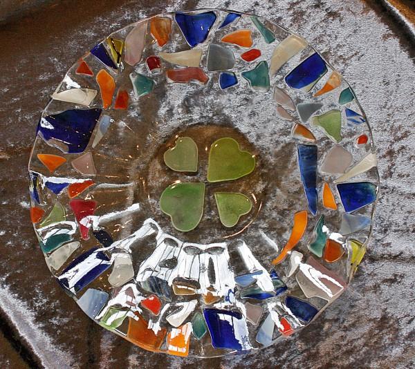 琉球ガラス体験で記念になる1枚が作れた