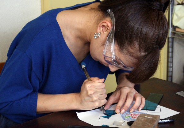 Okinawa glass with star sand making experienceat